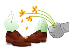 Stinky Schuhe lizenzfreie abbildung