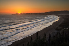 Stinson Beach Sunset, California Stock Photography
