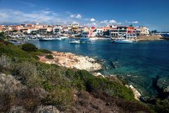View of Stintino bay on a sunny day Royalty Free Stock Photo