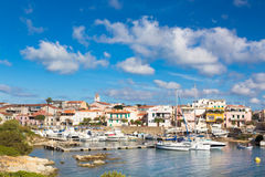 Stintino harbor, Sardinia, Italy. Royalty Free Stock Photography