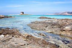 Stintino plaża Obrazy Royalty Free