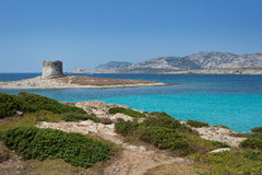 Stintino in Sardinia, Italy. Royalty Free Stock Photos
