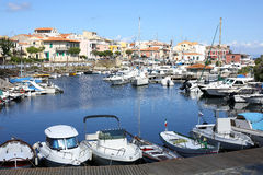 Stintinostad op het Eiland van Sardinige, Italië stock foto