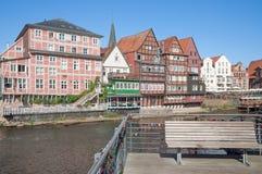 Stintmarkt Lueneburg stad, lägre Sachsen, Tyskland Royaltyfri Foto