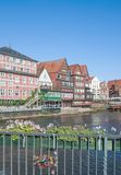 Stintmarkt Lueneburg stad, lägre Sachsen, Tyskland Royaltyfria Foton