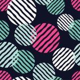 Stip naadloos patroon Geometrische Achtergrond De kleurrijke ballen Royalty-vrije Stock Afbeelding