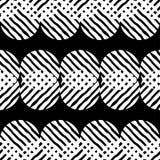 Stip naadloos patroon Geometrische Achtergrond De kleurrijke ballen Stock Afbeeldingen