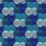 Stip naadloos patroon Geometrische Achtergrond De kleurrijke ballen Royalty-vrije Stock Afbeeldingen