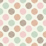 Stip naadloos patroon Geometrische Achtergrond De kleurrijke ballen Stock Fotografie