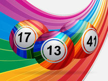 Stiped bingo balls background Royalty Free Stock Images