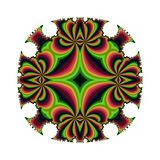 Stiped mandala. Abstract fractal image resembling a striped mandala Royalty Free Stock Image