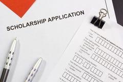 Stipendium-Anwendung Lizenzfreies Stockbild