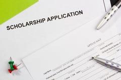 Stipendium-Anwendung Lizenzfreie Stockfotografie