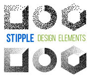 Stipple effect. Vector set of black and white halftone background. stipple effect Stock Photos