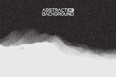 Stipple gradient texture ,half tone, dot vector art. 3D landscape Abstract Background. Gradient Vector Illustration Stock Photography