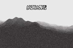 Stipple gradient texture ,half tone, dot vector art. 3D landscape Abstract Background. Gradient Vector Illustration Stock Images