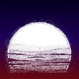 Stipple Sun. Sunset made in dotwork style. Stipple Sun. Hand drawn sunset made in dotwork style. Dots form halftone. Isolated vector illustration. Can be tattoo Royalty Free Stock Image