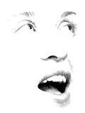 Stipple You. Face features of young woman's face executed in stipple style Royalty Free Stock Photo