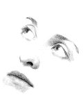Stipple You. Face features of young woman's face executed in stipple style Royalty Free Stock Image