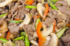 Stir-Зажаренная говядина с овощами стоковое фото