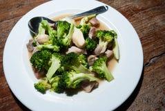 Stir-зажаренные овощи на плите Стоковое Фото