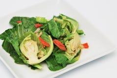 Stir-зажаренные смешанные овощи стоковые фото
