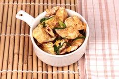 Stir-зажаренный краб в порошке карри первая десятка популярной тайской еды Стоковые Изображения RF