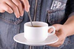 stir кофе стоковое изображение