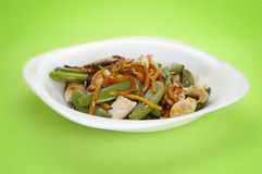 Stir vegetables and chicken Royalty Free Stock Photography