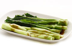 Stir chino del bróculi frito Imagen de archivo