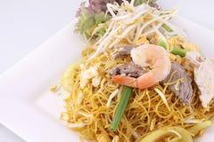 Stir de nouilles de Sigapore frit avec des nouilles de vermicellis. image libre de droits