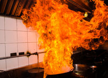 Stir Fire Very Hot Royalty Free Stock Images