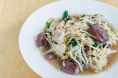 Stir fired bean sprouts Stock Photography