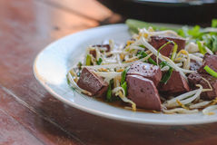 Stir fired bean sprouts with Soy Sauce Stock Image