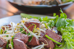 Stir fired bean sprouts with Soy Sauce Royalty Free Stock Photo