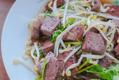 Stir fired bean sprouts with Soy Sauce Royalty Free Stock Photos