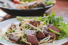 Stir fired bean sprouts with Soy Sauce Royalty Free Stock Image