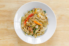 Stir Fired Vermicelli Stock Photography