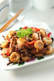 Stir fried Abacus Beads. A plate of stir fried Abacus Beads (Suan Pan Zi stock photography