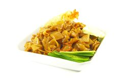 Stir Fried Asian Style Noodles Stock Images