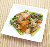 Stir fried asparagus Royalty Free Stock Images