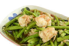 Stir-Fried Asparagus Royalty Free Stock Images