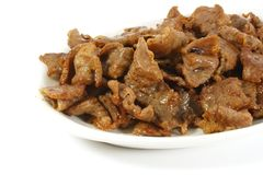 Stir Fried Beef royalty free stock images