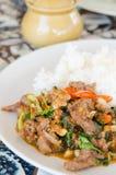 Stir fried beef , asian food Royalty Free Stock Photos