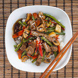Stir fried Beef Royalty Free Stock Photos