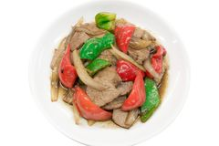 Pepper Steak isolated in white background royalty free stock photo
