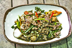 Stir-fried beef with black pepper Stock Photo