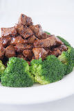 Stir fried beef with broccoli Royalty Free Stock Photos