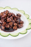 Stir fried beef chinese food Stock Photography