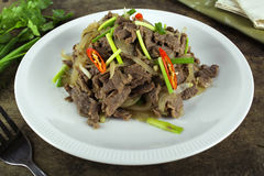 Stir fried beef with onion Royalty Free Stock Images
